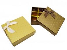 Caja de regalo cuadrada con seprador x unidad