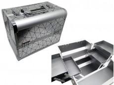 Maletín de cosmética con 4 estantes 30x20x25cm x unidad
