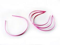 Vincha metálica forrada en raso rosa fuerte 0.5 cm x unidad