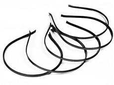 Vincha metálica forrada en raso negro 0.5 cm x unidad
