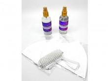 Set jabon, alcohol con esencias, 3 barbijos reutilizables y cepillo de uñas
