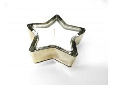 Vela de cera de soja aromática en estrella de vidrío