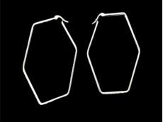 Aros argolla hexagono acero blanco 6 cm x unidad