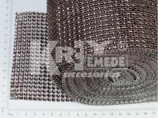 Pasamanería PVC simil strass x 9,10mts