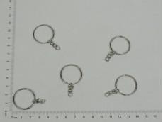 Argolla con cadena níquel para llaveros