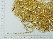 Cadena dorada con strass x 9,10 mts