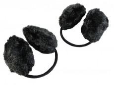Orejeras negras de peluche