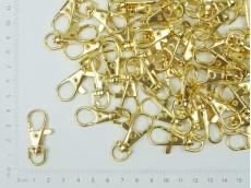 Mosquetón dorado para llavero 3.7 cm