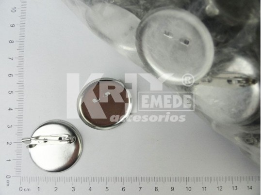 Base de prendedor redonda 3 cm