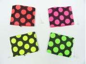Muñequera tramada flúo multicolor y bicolor