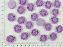 Flor de resina lila