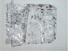 Bolsa de regalo de organza plateada