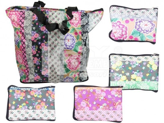 Bolso estampado plegable