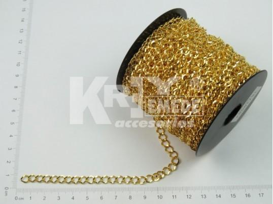Cadena dorada plana 1.2 mm x 25 mts
