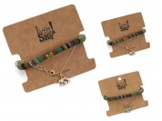 Set pulseras inca y cadena bolita elefante