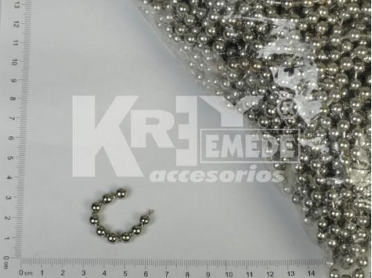 Cadena de bolitas níquel (6,0mm x 50 mts)