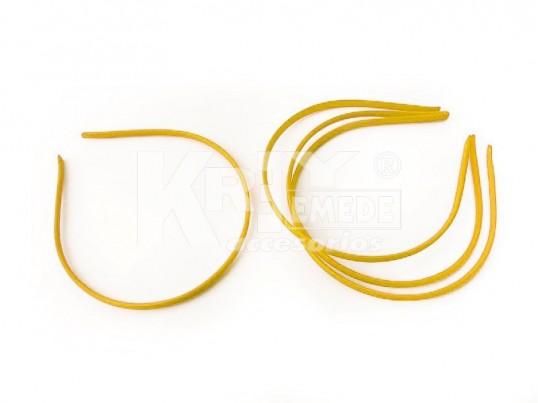 Vincha metálica forrada en seda fría oro 0.5 cm