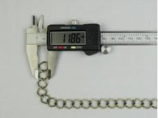 Cadena simple eslabón plano bronce 1,6 mm x 25 mts