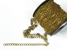 Cadena dorada plana 1mm x 25 mts