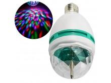 Lámpara led rgb giratoria audiorítmica a rosca E27