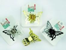 Broche mariposa metal 3.5cm