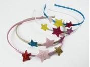 Vincha 3 estrellas de 2 medidas y distintos colores