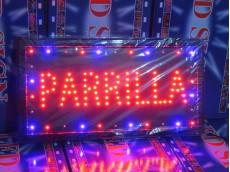 Cartel led PARRILLA con moviemiento
