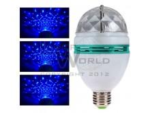 Lámpara led AZUL giratoria a rosca audioritmica E27