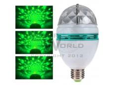 Lámpara led VERDE giratoria a rosca audioritmica E27