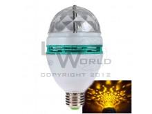 Lámpara led NARANJA giratoria a rosca audioritmica E27