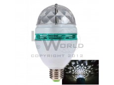Lámpara led BLANCA giratoria a rosca audioritmica E27