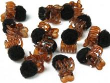 Broche mini con pompón x 12