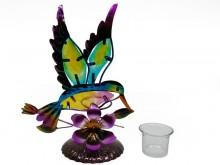 Portavela artesanal colibrí x 1