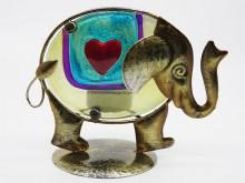 Portavela artesanal elefante x 1