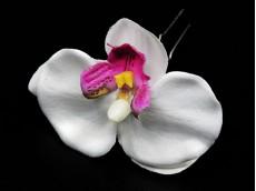 Horquilla orquídea con strass x unidad