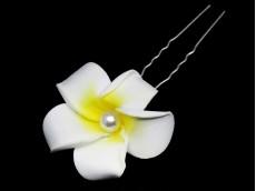 Horquilla flor con perla x unidad